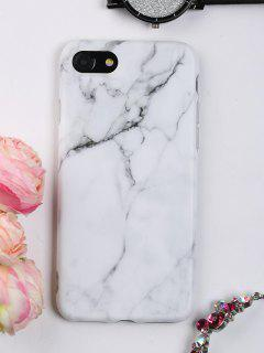 Marble Pattern Phone Case For Iphone - White For Iphone 7