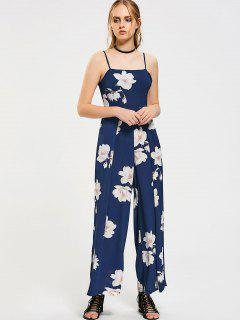 Floral Bow Tied Cut Out Jumpsuit - Floral S