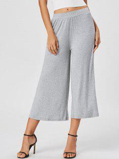 Ninth High Waisted Wide Leg Pants - Gray M