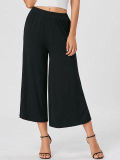 Ninth High Waisted Wide Leg Pants - Black L