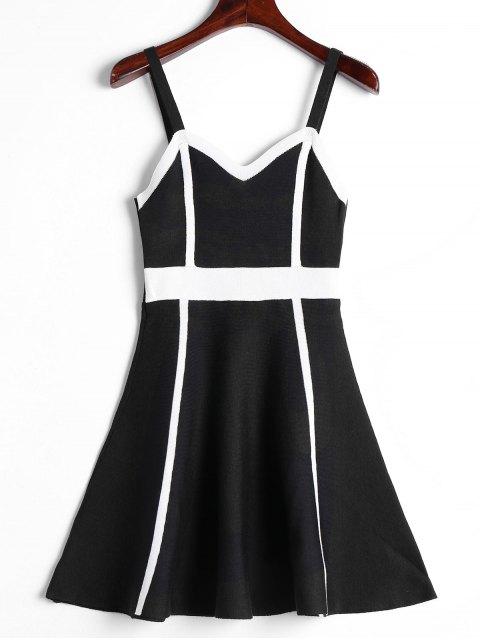 Cami Robe Tissé Color Block - Noir Taille Unique Mobile