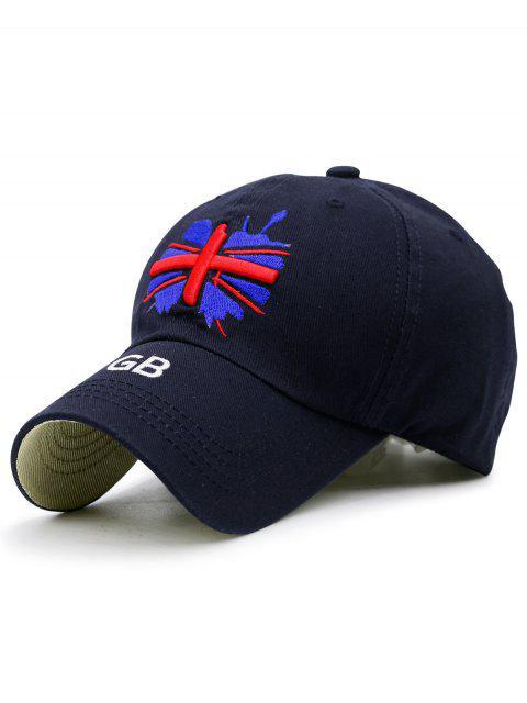 Chapeau de baseball de broderie de drapeau anglais - Bleu Cadette  Mobile