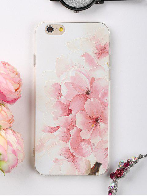 women's Peach Flowers Pattern Phone Case For Iphone - LIGHT PINK FOR IPHONE 6 / 6S Mobile
