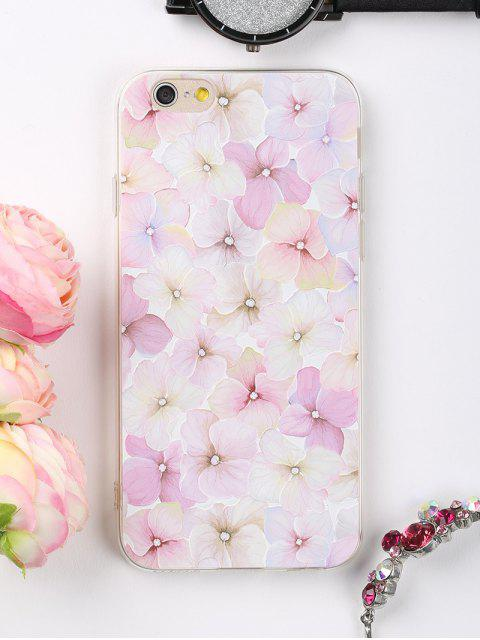 online Flowers Pattern Phone Case For Iphone - LIGHT PINK FOR IPHONE 6 / 6S Mobile