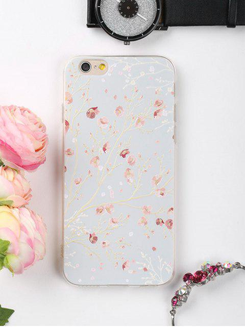 trendy Branch Floral Pattern Phone Case For Iphone - COLORMIX FOR IPHONE 6 / 6S Mobile