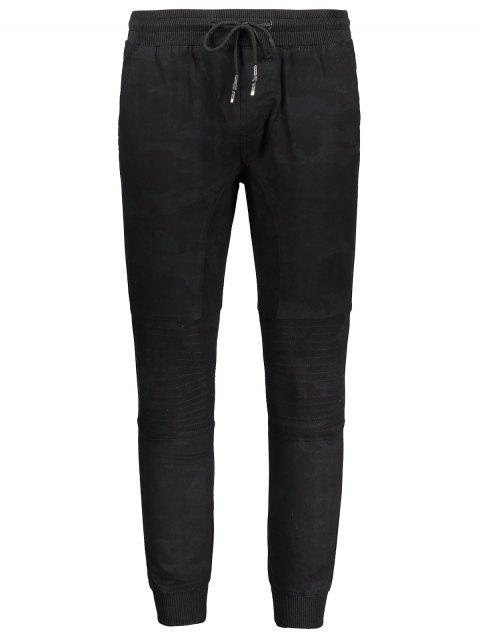 women Mens Jogger Pants - BLACK M Mobile