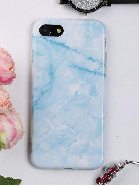 Marmor Muster Handytasche für Iphone - azurblau  FÜR IPHONE 7 Mobile