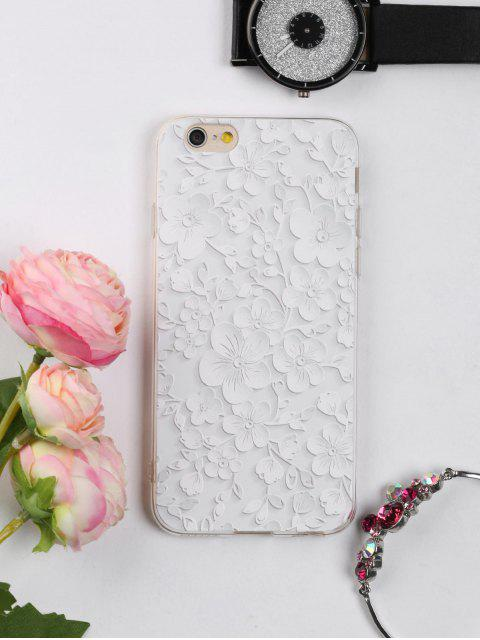Floral Leaf patrón teléfono caso para Iphone - Blanco PARA IPHONE 6 / 6S Mobile