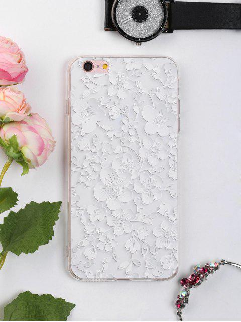 ladies Floral Leaf Pattern Phone Case For Iphone - WHITE FOR IPHONE 6 PLUS / 6S PLUS Mobile