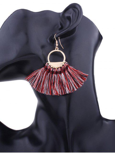 fashion Vintage Tassel Circle Fish Hook Earrings -   Mobile