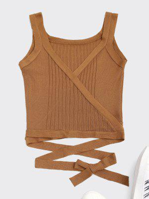 Wrap Knit Tank Top