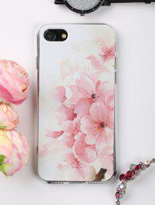 الخوخ الزهور نمط حالة الهاتف لفون - وردي فاتح على اي فون 7