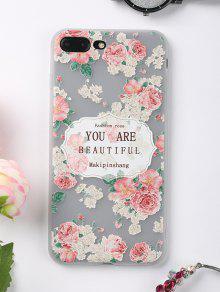 Letras Rosa Patrón Teléfono Caso Para Iphone - Rosa Para Iphone 7 Plus