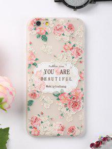Letras Rosa Patrón Teléfono Caso Para Iphone - Rosa Para Iphone 6 / 6s
