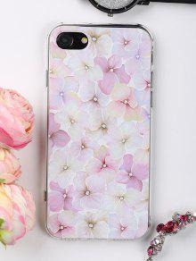 Caso Del Teléfono Del Patrón De Las Flores Para Iphone - Rosa Luz Por Iphone 7