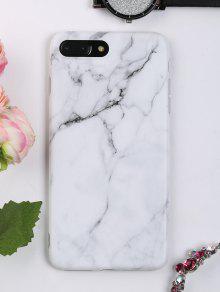 نمط الرخام حالة الهاتف لفون - أبيض ل Iphone 7 Plus