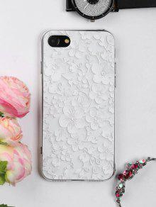 الأزهار ورقة نمط حالة الهاتف لفون - أبيض على اي فون 7