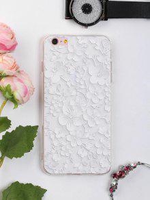 الأزهار ورقة نمط حالة الهاتف لفون - أبيض آيفون 6 Plus / 6s Plus