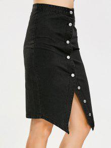 2a5fa606a9a Asymmetrical Button Up Denim Skirt; Asymmetrical Button Up Denim Skirt ...