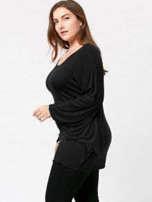 7943ab38 30% OFF] 2019 Plus Size Halloween Batwing T-shirt In BLACK | ZAFUL