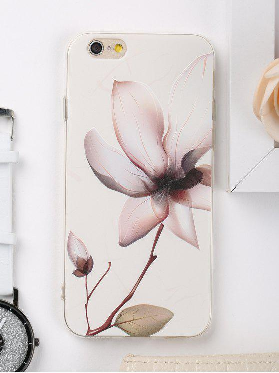 shops Flower Pattern Phone Case For Iphone - WHITE FOR IPHONE 6 / 6S