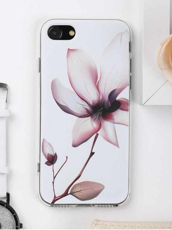 trendy Flower Pattern Phone Case For Iphone - WHITE FOR IPHONE 7
