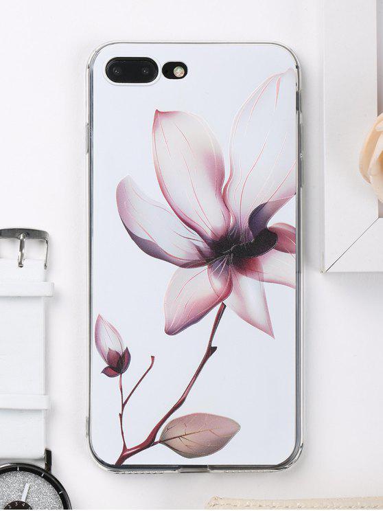 Caja del teléfono del patrón de la flor para Iphone - Blanco para iPhone 7 PLUS