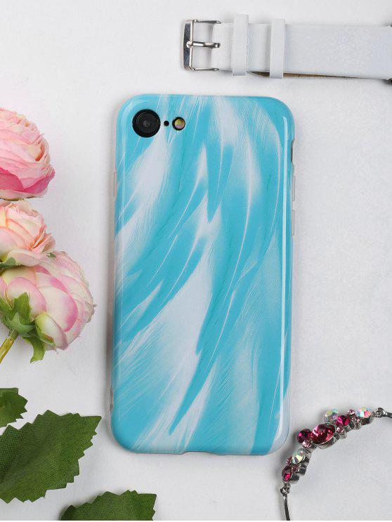 womens Feather Pattern Phone Case For Iphone - LAKE BLUE FOR IPHONE 7