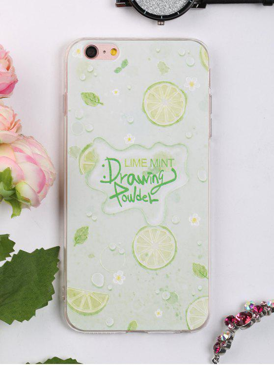 Caja suave del teléfono del patrón de la fruta para Iphone - LIGHT GREEN PARA IPHONE 6 PLUS / 6S PLUS