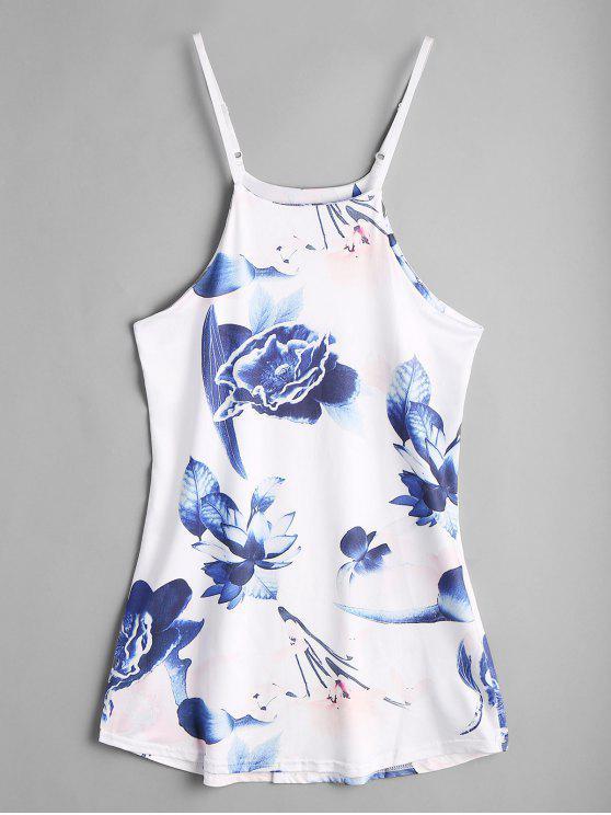 فستان مثير طباعة الأزهار - الأزهار L