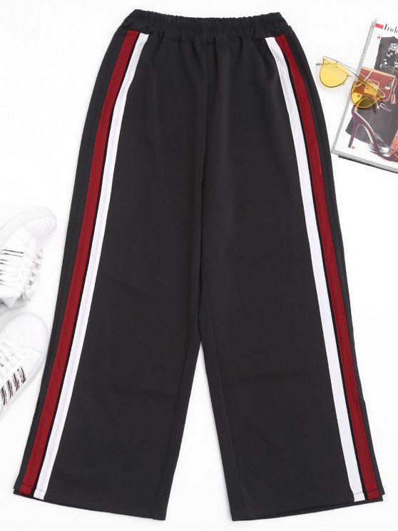 Slit Side Stripe Pants - Rouge S
