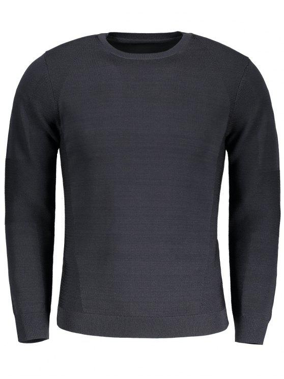 unique Mens Crew Neck Sweater - BLACK M