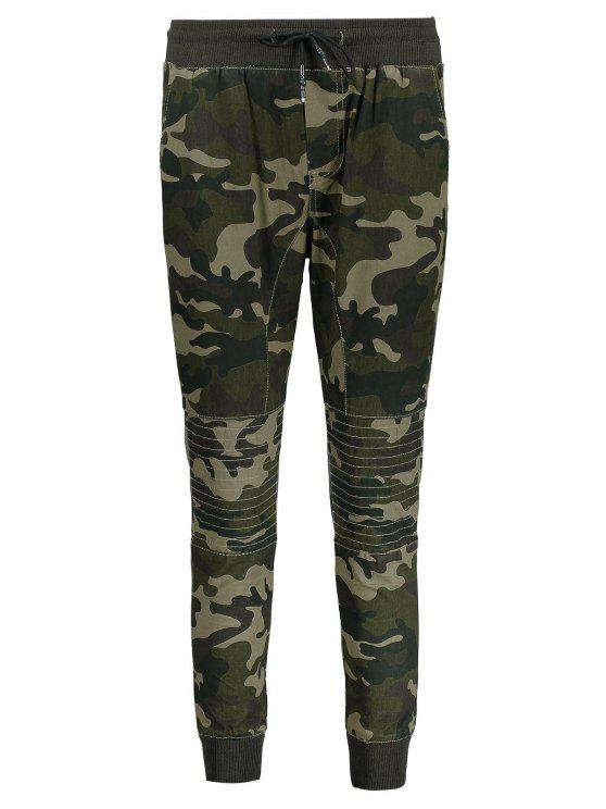 c54a9a778fb25a 26% OFF] 2019 Camo Jogger Pants In ARMY GREEN | ZAFUL