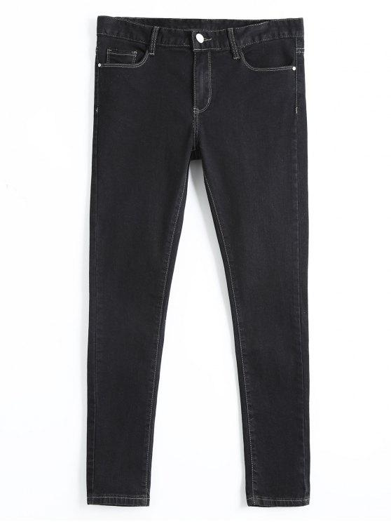 Skinny High Waisted Pencil Jeans - Preto 29