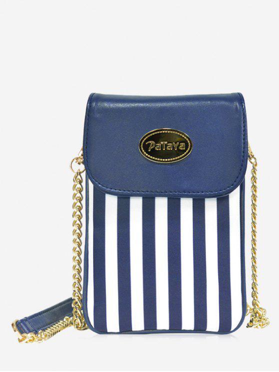 Correa de bloque de color mini bolsa Crossbody - Azul y Blanco
