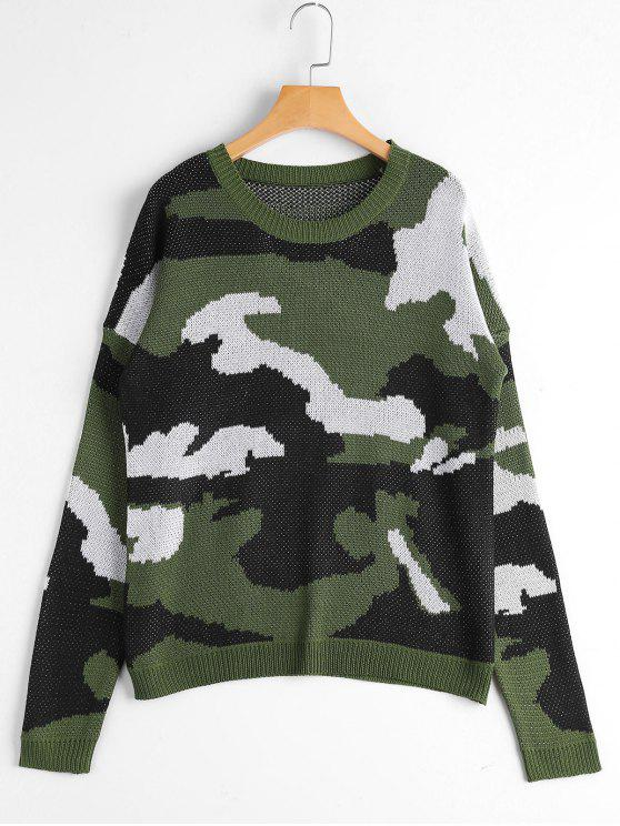 Pull Camo Col Rond - ACU Camouflage Taille Unique