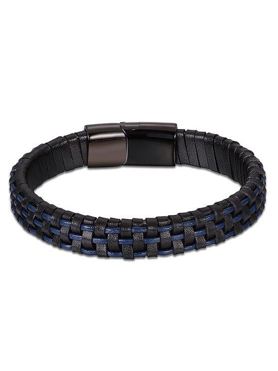 online Cool Artificial Leather Bracelet - BLUE