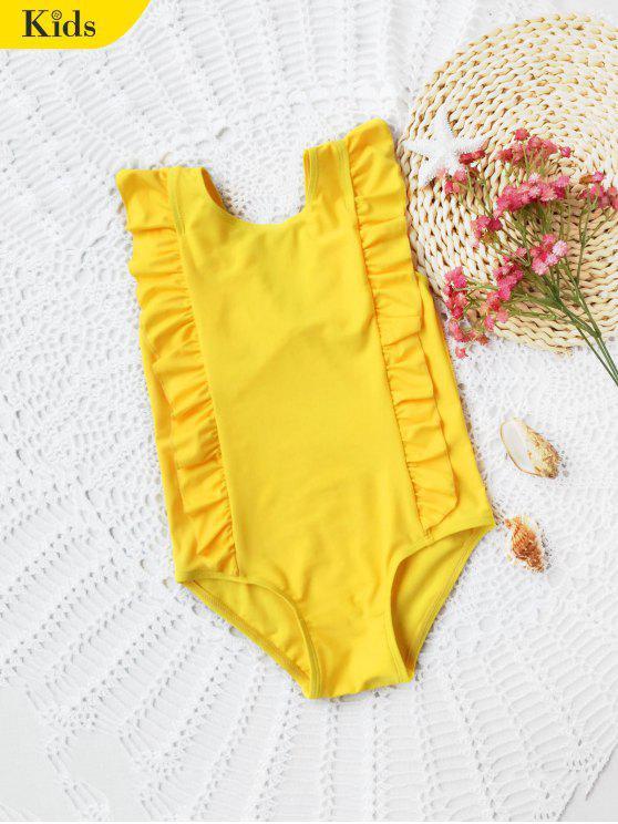 Bambini ruffles Low Back Swimwear - Giallo 6T