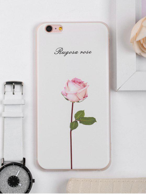 sale Rose Flower Pattern Phone Case For Iphone - WHITE FOR IPHONE 6 PLUS / 6S PLUS