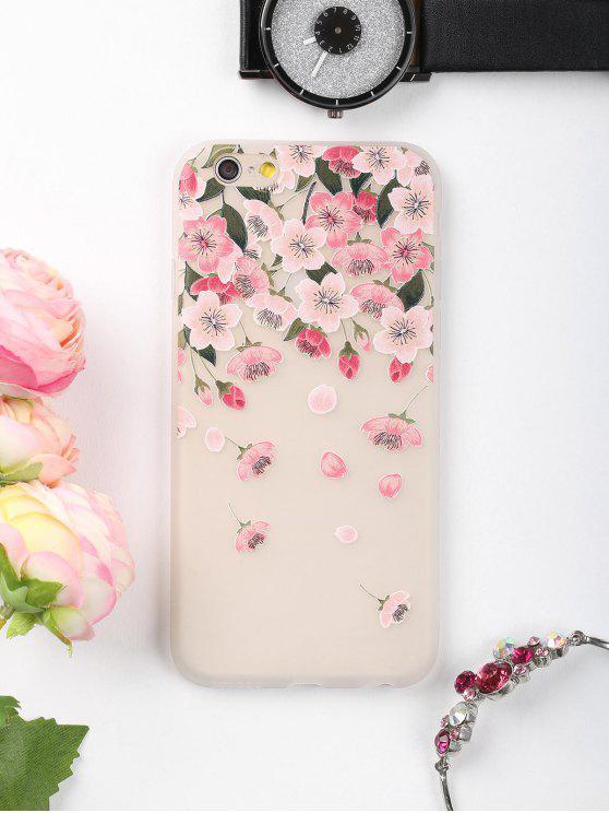 Flores de pétalos patrón teléfono caso para Iphone - Rosa PARA IPHONE 6 / 6S
