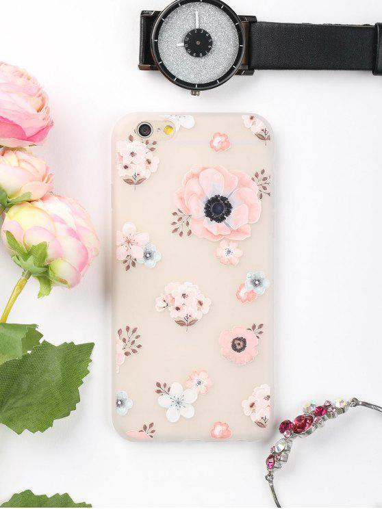lady Floral Pattern Phone Case For Iphone - PINK FOR IPHONE 6 / 6S