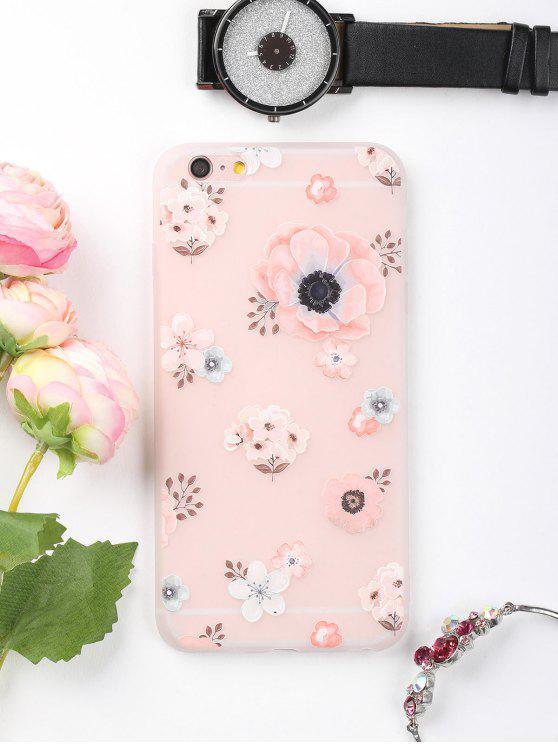 Caixa de telefone de padrão floral para Iphone - Rosa Para IPHONE 6 PLUS / 6S PLUS