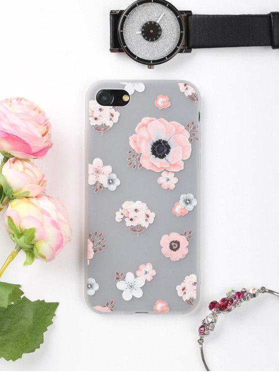 Caja del teléfono del patrón floral para Iphone - Rosa Por IPHONE 7