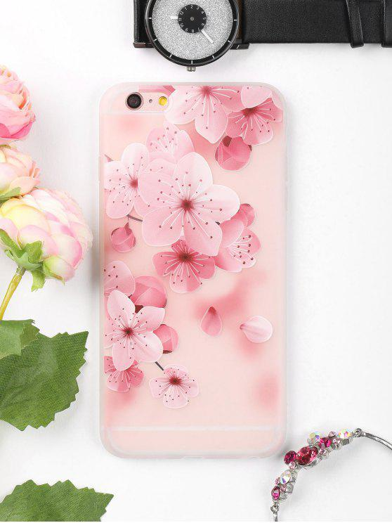 Peach Flower Pattern Phone Case para Iphone - Rosa Para IPHONE 6 PLUS / 6S PLUS