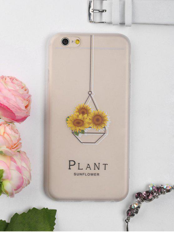 chic Sunflower Pattern Phone Case For Iphone - CLEAR WHITE FOR IPHONE 6 / 6S
