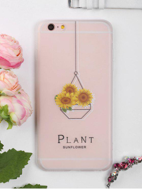 fancy Sunflower Pattern Phone Case For Iphone - CLEAR WHITE FOR IPHONE 6 PLUS / 6S PLUS