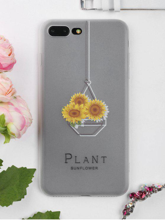 sale Sunflower Pattern Phone Case For Iphone - CLEAR WHITE FOR IPHONE 7 PLUS