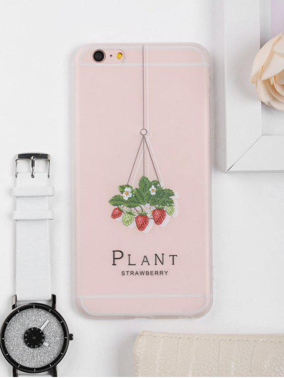 buy Strawberry Pattern Phone Case For Iphone - CLEAR WHITE FOR IPHONE 6 PLUS / 6S PLUS