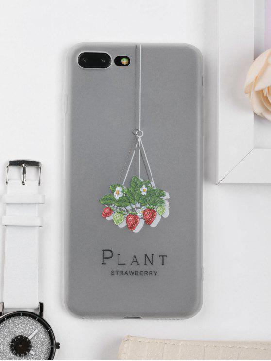women Strawberry Pattern Phone Case For Iphone - CLEAR WHITE FOR IPHONE 7 PLUS