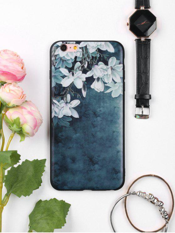 ladies Flowers Pattern Soft Phone Case For Iphone - INK BLUE FOR IPHONE 6 PLUS / 6S PLUS